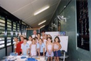 Dr. Zervis with teachers and students at the Strathfield North location